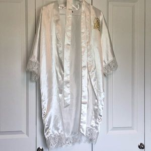 Future Mrs. white wedding robe